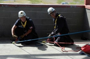 The key to effectively managing a two tension rope system ifs for the two operators to work together toward the goal of maintaining 50-50 tension.